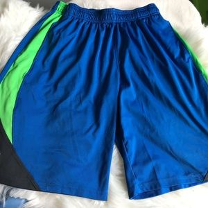 Under Armour Blue & Green Athletic Shorts